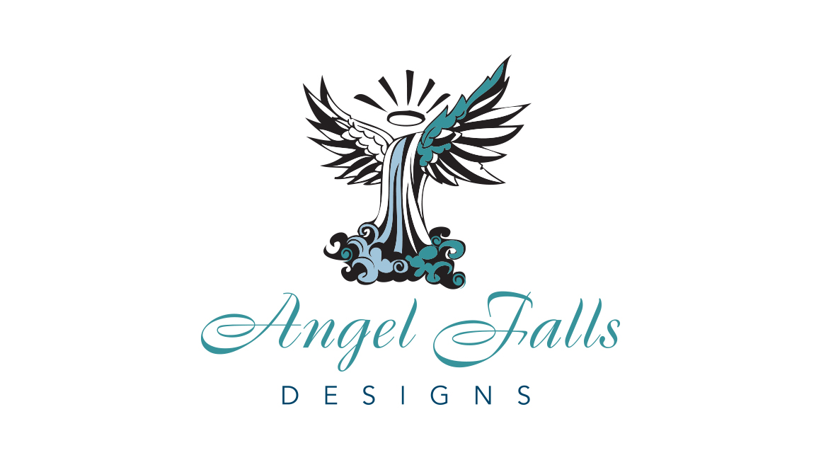 Angel falls logo design donnelly creative services Angel logo design