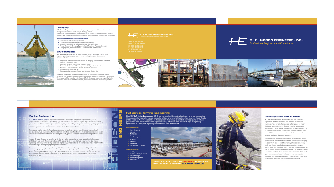 Hudson Engineers Brochure Design - Donnelly Creative Services