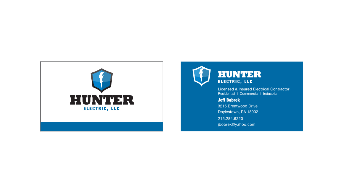 Hunter Electric Business Card Design - Donnelly Creative Services